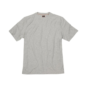 Melange Crew Neck Peruvian Cotton Tee Shirt in Pearl Mélange by Left Coast Tee