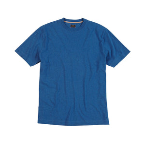 Melange Crew Neck Peruvian Cotton Tee Shirt in Bright Blue Mélange by Left Coast Tee