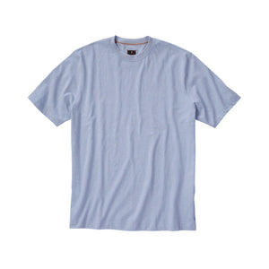 Melange Crew Neck Peruvian Cotton Tee Shirt in Light Blue Mélange by Left Coast Tee