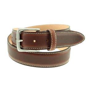 Colombia Dress Belt in Briar Waxy Leather by T.B. Phelps