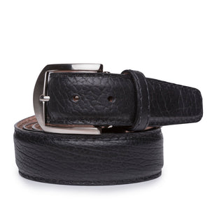 American Bison Belt in Black by L.E.N. Bespoke