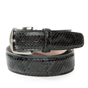 Genuine Python Belt in Grey by L.E.N. Bespoke