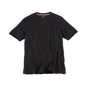 Crew Neck Peruvian Cotton Tee Shirt in Black by Left Coast Tee