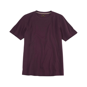 Crew Neck Peruvian Cotton Tee Shirt in Aubergine by Left Coast Tee