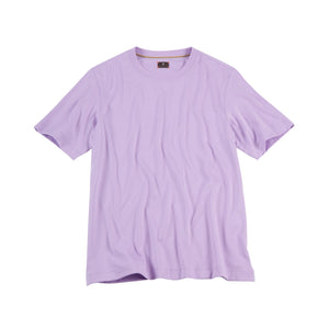 Crew Neck Peruvian Cotton Tee Shirt in Lilac by Left Coast Tee
