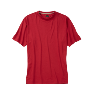 Crew Neck Peruvian Cotton Tee Shirt in Red by Left Coast Tee