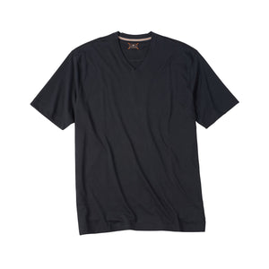 V-Neck Peruvian Cotton Tee Shirt in Black by Left Coast Tee