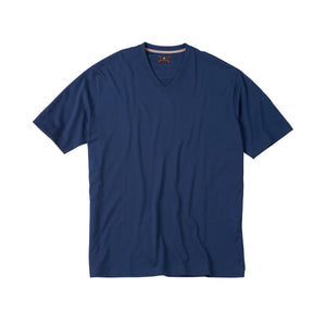 V-Neck Peruvian Cotton Tee Shirt in Navy by Left Coast Tee