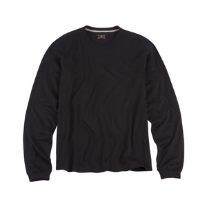 Long Sleeve Crew Neck Peruvian Cotton Tee Shirt in Black by Left Coast Tee