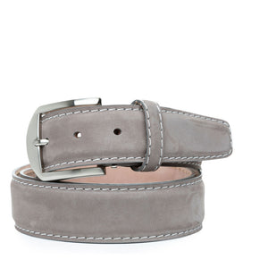 Italian Nubuck Belt in Dove Grey by L.E.N. Bespoke