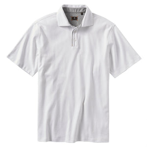 Interlock Piped Polo in White by Left Coast Tee
