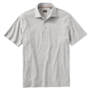 Hairline Stripe Polo in Light Grey by Left Coast Tee