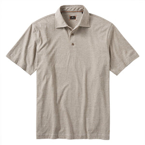 Hairline Stripe Polo in Taupe by Left Coast Tee
