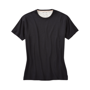 'Shaped Fit' Crew Neck Peruvian Cotton Tee Shirt in Black by Left Coast Tee