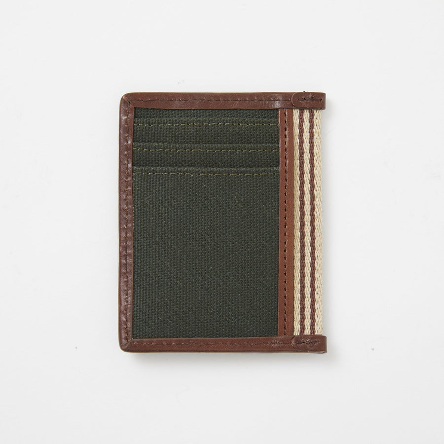 Card Case with Bottle Opener in Green Canvas by Baekgaard