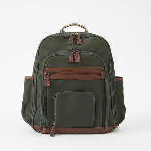Edward Canvas Backpack in Racing Green by Baekgaard