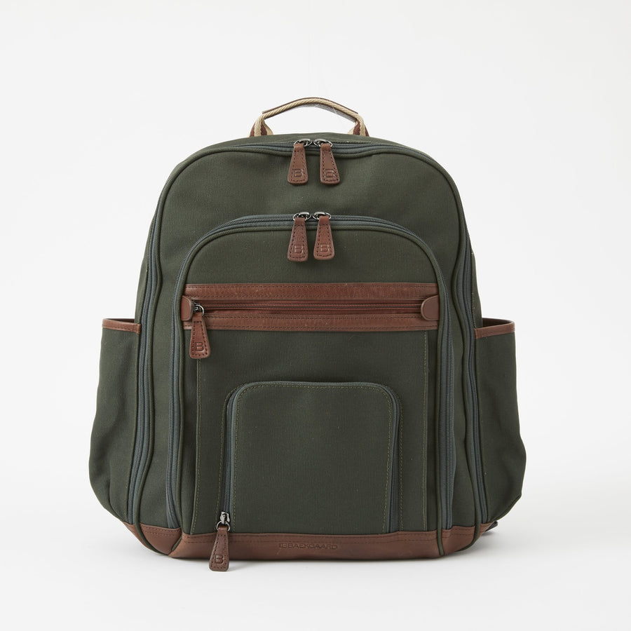 Edward Backpack in Green Canvas by Baekgaard