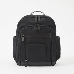 Edward Backpack in Black Brushed Microfiber by Baekgaard