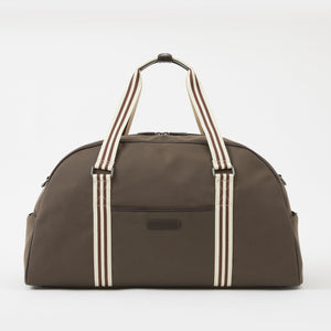 Jimmy Duffel Bag in Brown Brushed Microfiber by Baekgaard