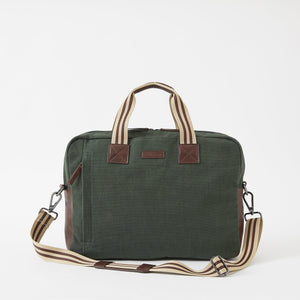 Sloan Canvas Attaché in Racing Green by Baekgaard