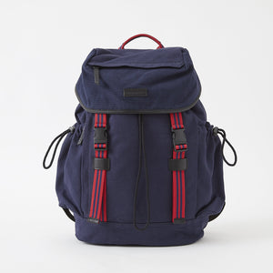 Sloan Canvas Backpack in Midnight Navy by Baekgaard