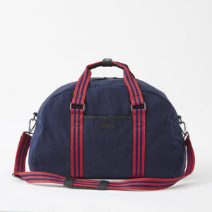 Sloan Canvas Gym Bag in Midnight Navy by Baekgaard