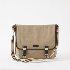 Sloan Canvas Messenger Bag in Desert by Baekgaard