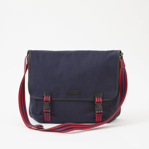 Sloan Canvas Messenger Bag in Midnight Navy by Baekgaard