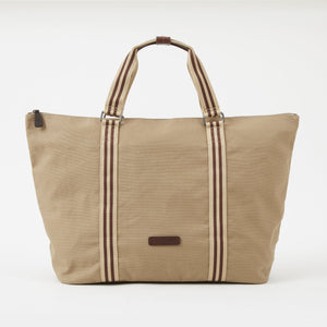 Tom Canvas Zipper Tote in Desert by Baekgaard