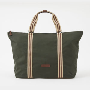 Tom Canvas Zipper Tote in Racing Green by Baekgaard