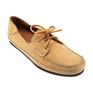 Alex Nubuck Boat Shoe in Beach Sand by T.B. Phelps