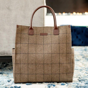Bob Tote in Brown Woolen Tweed by Baekgaard