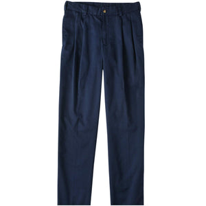 M2P Pleated Classic Fit Chamois Cloth Pants in Navy by Bills Khakis
