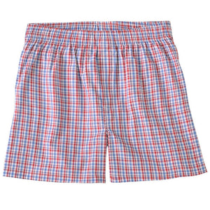 Bold Check Cotton Boxer in Red Check by Bills Khakis