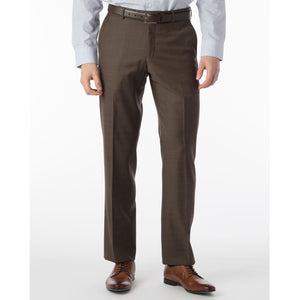 Sharkskin Super 120s Worsted Wool Comfort-EZE Trouser in Chestnut (Flat Front Models) by Ballin