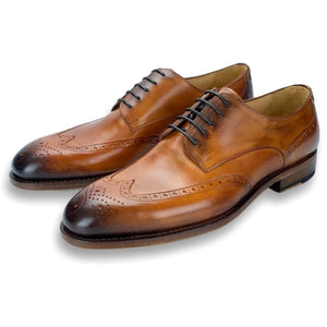 Atlanta Derby Wingtip with Brogue Detailing in Golden Oak by Armin Oehler