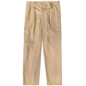 M1P Pleated Relaxed Fit Vintage Twills in Khaki by Bills Khakis
