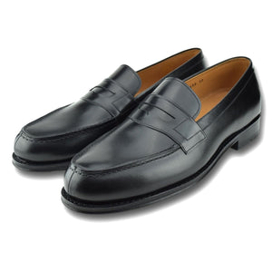 Columbia Penny Loafer in Charcoal Black by Armin Oehler