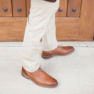Air Alert Chukka Boot in Tan and Rust Leather by Testosterone Shoes