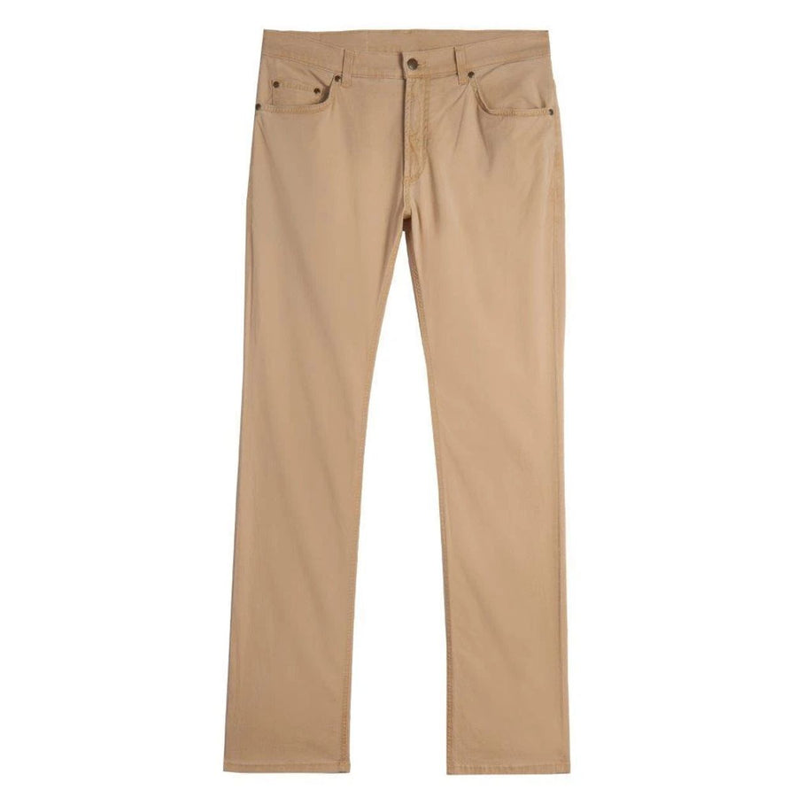 Island Twill 5 Pocket Straight Fit Model in Sand by Bills Khakis