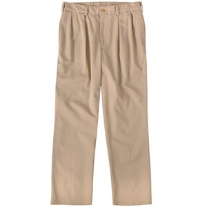 M1P Pleated Relaxed Fit Original Twills in Khaki by Bills Khakis