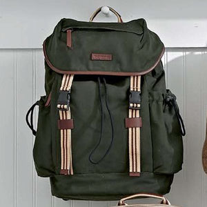 Sloan Backpack in Green Canvas by Baekgaard