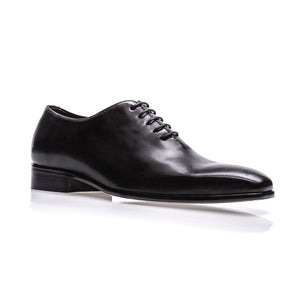 Mastrich Wholecut Derby Lace Up in Black by Jose Real