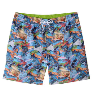 Hawaiian Postcard Swim Trunks by Bills Khakis