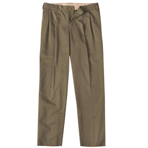 M2P Pleated Classic Fit Vintage Twills in Olive by Bills Khakis