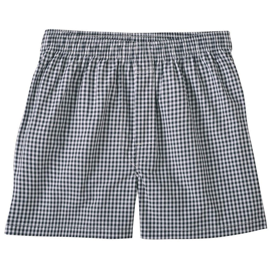 Classic Gingham Cotton Boxer in Black by Bills Khakis