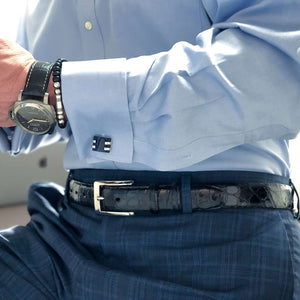 Genuine American Alligator Belt in Black by Torino Leather