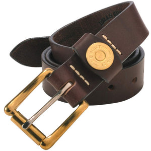 Shotgun Shell Leather Belt in Brown by Bills Khakis