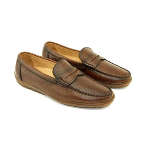 Edmond Deerskin Loafer in Antique Honey by Alan Payne Footwear