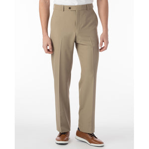 Comfort-EZE Commuter Bi-Stretch Gabardine Trouser in Khaki (Flat Front Models) by Ballin